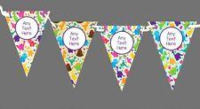 COLORATO DINOSAURI PERSONALIZZATA Bambini Festa di Compleanno Bunting