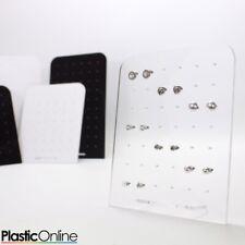 36 / 42 / 60 / 72 Hole Earring Stud Display Stand Acrylic Holder Jewellery