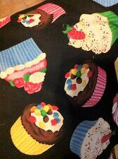 "Large Cute Cupcake Cup Cake Print Totebag Purse 16"" x 16"""
