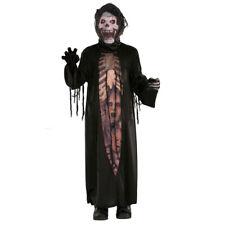 Kids Boys Girl Halloween Costume Child Scary Horror Grim Reaper Skeleton Outfit