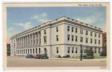 Post Office Fargo North Dakota linen postcard