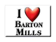 SOUVENIR UK - ENGLAND MAGNET UNITED KINGDOM I LOVE BARTON MILLS (SUFFOLK)