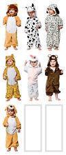 Childrens Bambino tutto in un unico costume leone mucca dalmata TIGER Bunny ORSO CUCCIOLO