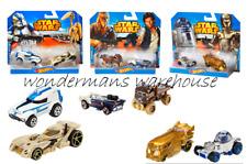 Hot Wheels Star Wars-Twin pack vehicle set- Han Solo/R2D2/C3PO/Chewbacca  - NEW