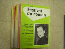 lot de 11 revues festival du roman 1962-1963