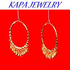 Indian Gold Plated Jewellery hoop womens  Ethnic  Hoop Earrings Asian Bridal