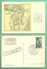 CARTOLINA EUROPA LA POSTA NEL '500 EUROPEA VENEZIA 1953  ANNULLO RETTANGOLARE
