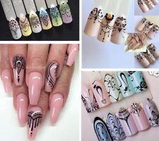 riesige Vielfalt Nail Sticker Nagel Fingernägel Tattoo Black Blumen Katze Orient