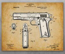 Poster - 1911 Colt 45 Patent - Choose Unframed Poster or Canvas