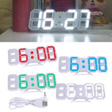 Modern Digital LED Table Desk Night Wall Clock Alarm 24/12 Hour Display Snooze