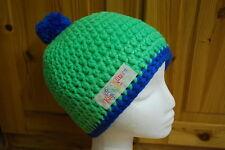 Boshi Mütze Beanie Mütze gehäkelt mit oder ohne Bommel Neonfarben