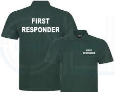 First responder Verde Botella Poloshirt, Workwear, médico, Bar Evento S-7XL
