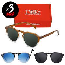 Tres gafas de sol TWIG Pack WOOLF [Premium] hombre/mujer vintage fashion