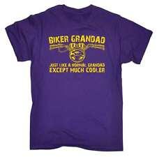Funny - Biker Grandad - Motorbike Birthday Joke Humour tee Fashion T-SHIRT