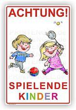 Warnschild spielende Kinder Hinweisschild Achtung  3mm Alu-Verbund Art. Kind.1