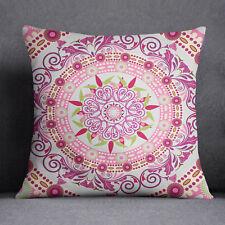 S4Sassy coussin décoratif Mandala imprimer Square housse coussin bleu clair