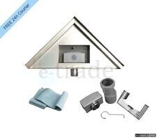 Stainless Steel Linear Floor Shower Drain Gutter Tile Corner triangle 25x25cm