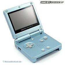 GameBoy Advance - Konsole GBA SP #Arctic Blue / blau AGS-101 (inkl. Stromkabel)