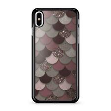 Rosa Marrón Fina color grisáceo exuberante Impreso Brillo Sirena escalas 2D Teléfono Estuche Cubierta