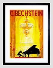 MUSIC CONCERT AD BECHSTEIN PIANO PIANIST OPERA HOUSE FRAMED ART PRINT B12X11438
