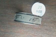 Nuevo bisutería anillo de acero inoxidable color plata blanco pulido espesor 8mm talla 18-24 #157