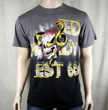 ED Hardy Men's SKULL SNAKE card T-shirt Gray NEW battle
