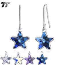 TT WGP Made with Swarovski Crystal Element Star Dangle Earring (SCE09) 2019 NEW