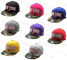 Señoras para hombre New York Ny Gorra de béisbol gorro sombrero de camuflaje pico adultos 6 Panel