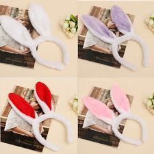 New Plush Fluffy Bunny Rabbit Ears Headband Costume Accessory Dress Up Pop AU