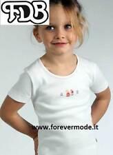 Maglia bambina FDB manica corta in caldo cotone felpato con stampa art 309S