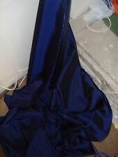 5m Azul Marino tafetán Tela 58 pulgadas de ancho