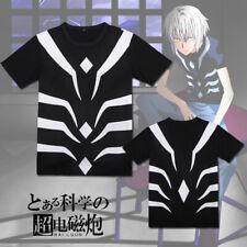 Anime Toaru Kagaku no rail gun Accelerator Majutsu no Index T-shirt Cotton Tee