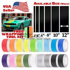 Matte Racing Stripes Vinyl Wrap Sticker For Dodge Challenger 25FT / 50FT Long