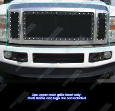 Fits 08-10 Ford F250/F350/F450 XLT Lariat King Ranch Only Black Rivet Grille