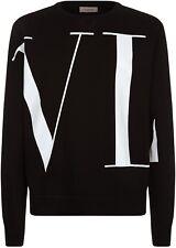 Suéter Jumper Logo Valentino vltn Maxi Negro Superior