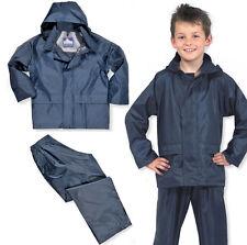 Childrens waterproof showerproof jacket and trouser set School Field Trip Value