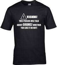 Tambores baterista Hombre Camiseta Rock Música De Regalo divertido pasatiempo declaración Instrumento