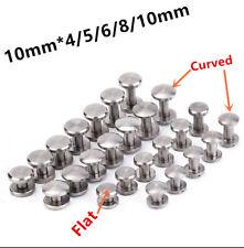 100 schraubnieten cinturón tornillos libro tornillos chicago níquel-brillante 5mm