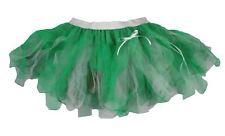 Ladies Dark Green White & Emerald Cyber Tutu Festival Pixie Skirt Fancy Dress