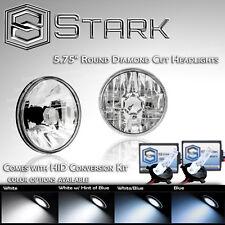 "H5001 / H5006 Diamond Head Light Glass Housing Lamp 5.75"" Round H4 HID Xenon Kit"