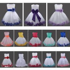 Petals Flower Girl Dress Kid Princess Pageant Wedding Bridesmaid Formal Dresses