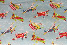 Biggles aviones Algodón curtain/craft Tela