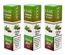 Liquid 5 x 10 ml - YAAK® E-Liquid Kirsche MInze in versch. Nikotinstärken