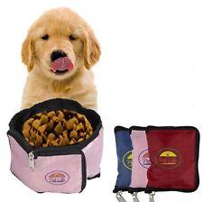 Portable Wallet Waterproof Travel Collapsible Folding Pet Dog Bowl Feeder