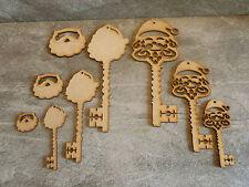 Wooden mdf Santa key craft blank Christmas decoration