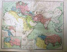 1892 MAP ~ ANCIENT WORLD ~ ORBIS TERRARUM ~ SECUNDUM PTOLEMAEUM