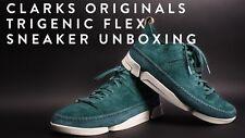 Clarks Originals Hombre Wallabee trigenic Flex Verde Azulado Ante GB 7,10, 11G