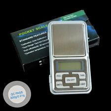 Electronic Mini Digital Jewelry Scale Weight 200g x 0.01g 0.1g Balance Gram W1E