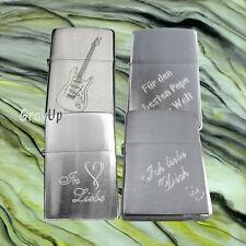 Zippo Brush chrom mit Diamant - Gravur