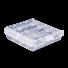 Plástico duro funda titular de batería AA de LR6 cajas de almacenaje de las células al por mayor 043